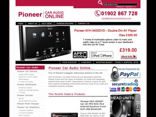 Pioneer Car Audio Online